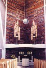 Altar in Backstein gearbeitet